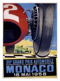 Grand Prix automobile de Monaco Giclée par J Ramel