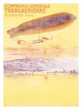 Billancourt to Paris by Dirigible Airship