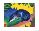 Blue Fox, c.1911 Reproduction d'art par Franz Marc