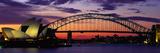 Harbour Bridge au soleil couchant, Sydney, Australie Papier Photo par Panoramic Images