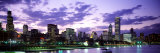 Sunset  Sky  Skyline  Twilight  Downtown  City Scene  Loop  Chicago  Illinois  USA