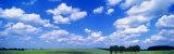 Cumulus Clouds with Landscape, Blue Sky, Germany, USA Papier Photo