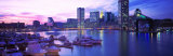 Sunset  Inner Harbor  Baltimore  Maryland  USA