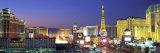 Dusk, the Strip, Las Vegas, Nevada, USA Papier Photo par Panoramic Images
