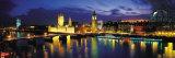 Nuit, Londres, Angleterre, Royaume-Uni Papier Photo par Panoramic Images