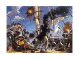 Confederate CSS Alabama in Battle Against Union USS Kearsarge