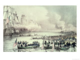 Landing of the American Force at Vera Cruz  Under General Scott  March  1847