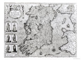 """The Kingdom of Ireland  """"Theatre of the Empire of Great Britain""""  1610"""