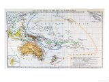 "Map of the Races of Oceania and Australasia  from ""The History of Mankind"""