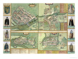 Maps of Galway  Dublin  Limerick  and Cork  in Civitates Orbis Terrarum by Braun and Hogenberg