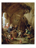 The Temptation of St Anthony in a Rocky Cavern