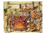 "Scene of Cannibalism  from ""Americae Tertia Pars""  1592"