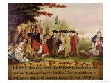 Penn's Treaty with the Indians circa 1840