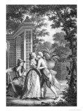 """The First Kiss of Love  Illustration from """"La Nouvelle Heloise"""" by Jean-Jacques Rousseau"""