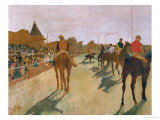 The Parade  or Race Horses in Front of the Stands  circa 1866-68