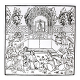 A Garden Scene  from 'Hypnerotomachia Poliphili' Attributed to Francesco Colonna (C1432-1527)