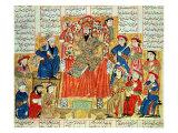 "A Sultan and His Court  Illustration from the ""Shahnama""  by Abu""L-Qasim Manur Firdawsi circa 1330"