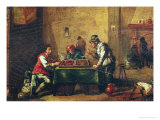Men Playing Backgammon in a Tavern