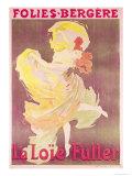 Poster Advertising Loie Fuller at the Folies Bergeres  1897
