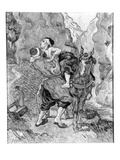 The Good Samaritan  after Delacroix  1890