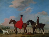 John and Sophia Musters Riding at Colwick Hall  1777