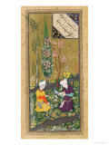 Two Figures Reading and Relaxing in an Orchard  circa 1540-50