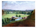 The Valley of the Stour with Dedham in the Distance  1836-37