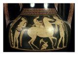 Attic White-Figure Amphora Depicting Amazons Preparing for Battle  circa 525-520 BC