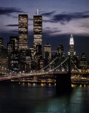 World Trade Center with Brooklyn Bridge