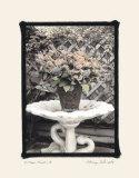 Vintage Flowers II  Still Life with Birdbath