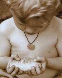 Little Boy with Love Rock