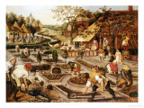 Spring: Gardeners  Sheep Shearers and Peasants Merrymaking