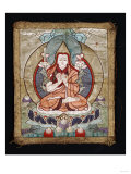 A Small Tibetan Applique Thangka Depicting TsongKhaPa  18th Century