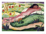 Nude Lying in the Flowers
