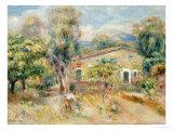 Collettes Farmhouse, Cagnes, La Ferme De Collettes, Cagnes, 1910 Giclée par Pierre-Auguste Renoir