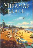 Miramar Beach, Montecitos Reproduction d'art par Kerne Erickson