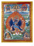 A Fine Tibetan Thangka Depicting Vajrabhairava with His 18 Legs and 36 Arms 18th Century