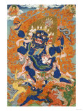A Tibetan Thangka Depicting the Four-Armed and Four-Headed Caturbhujamahakala  circa 1900