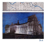 Reichstag XV - Signed Reproductions de collection premium par Christo