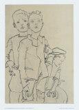 Group of Three Street-Boys  1910