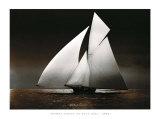 Iverna Yacht at Full Sail  c1895