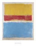 Sans titre, jaune, rouge et bleu, vers 1953 Reproduction d'art par Mark Rothko