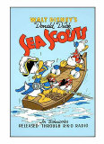 Donal Duck in Sea Scouts Sérigraphie