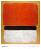 Untitled (Red, Black, White on Yellow), 1955 Reproduction d'art par Mark Rothko
