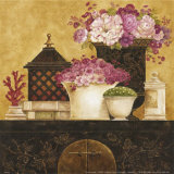 Still Life  Flowers on Antique Chest I