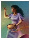 Miriam Dancing with Tambourine