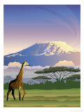 A View of Mt Kilimanjaro in Africa