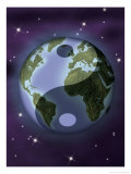 Earth with Ying and Yang Symbols