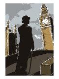 British Male in Suit  Big Ben