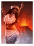 A View of Pele  the Hawaiian Goddess of the Volcano